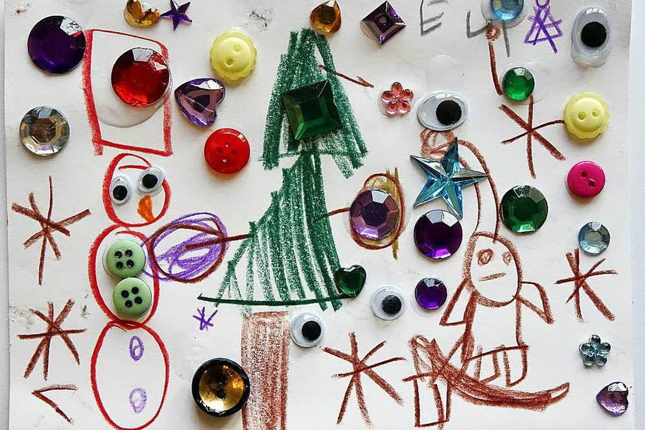 Eine der  fünf prämierten Karten: Diese gestaltete Elinor Seeber, 5 Jahre, aus Freiburg. (Foto: bz)