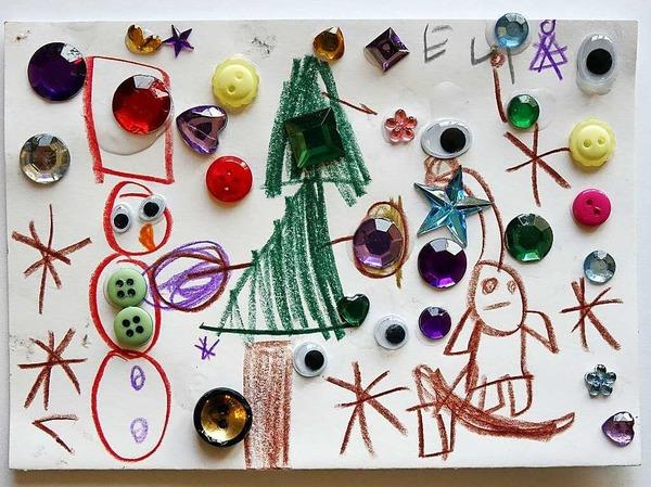 Eine der  fünf prämierten Karten: Diese gestaltete Elinor Seeber, 5 Jahre, aus Freiburg.