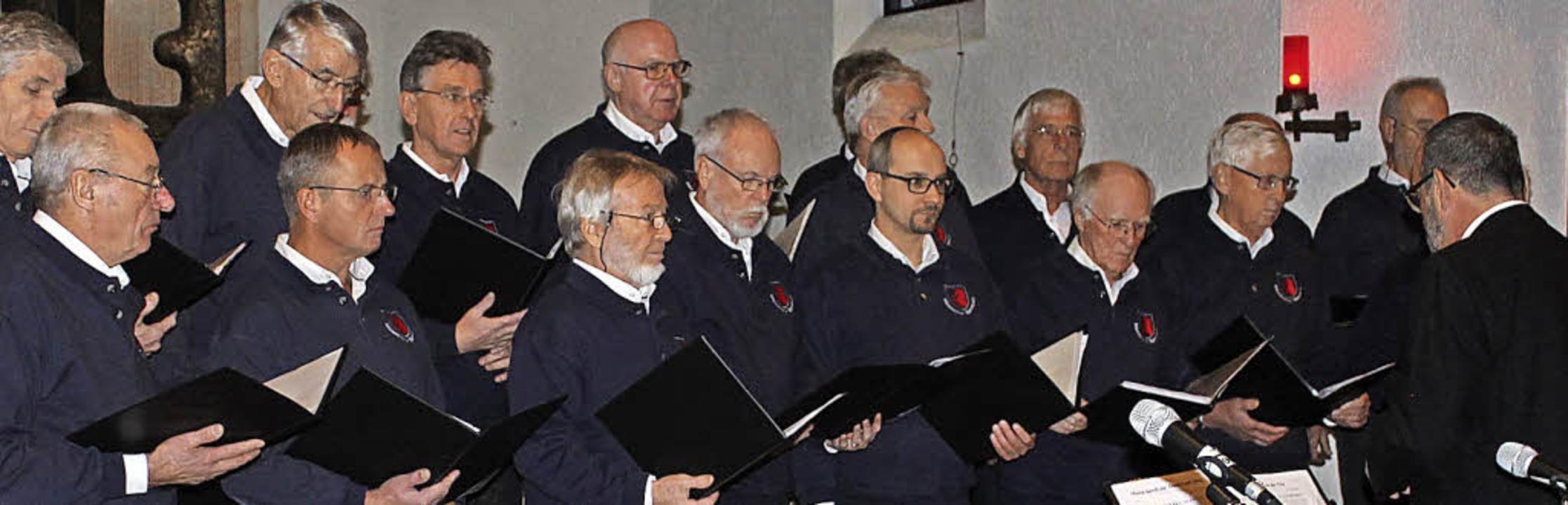 Sowohl der Männerchor Bannholz als auc...eil dieses erlesenen Benefizkonzerts.   | Foto: Cornelia Liebwein