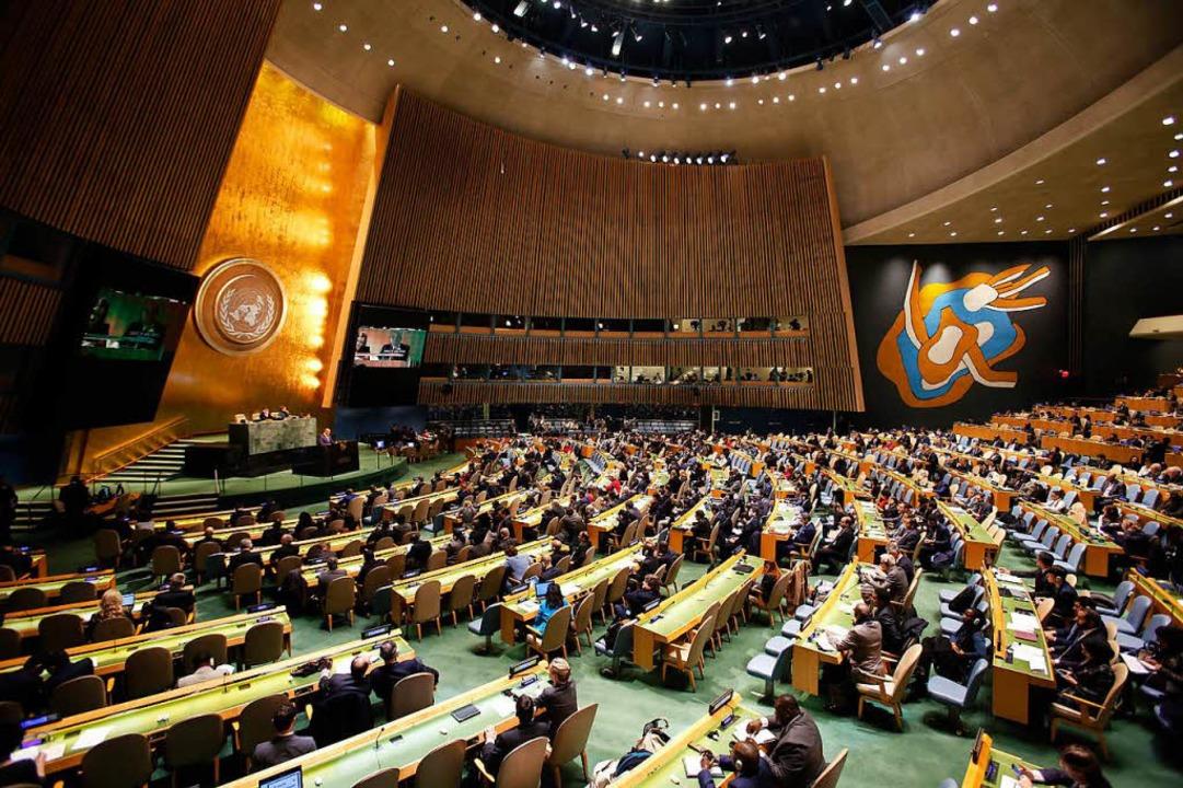 Das UN-Hauptquartier in New York.  | Foto: dpa
