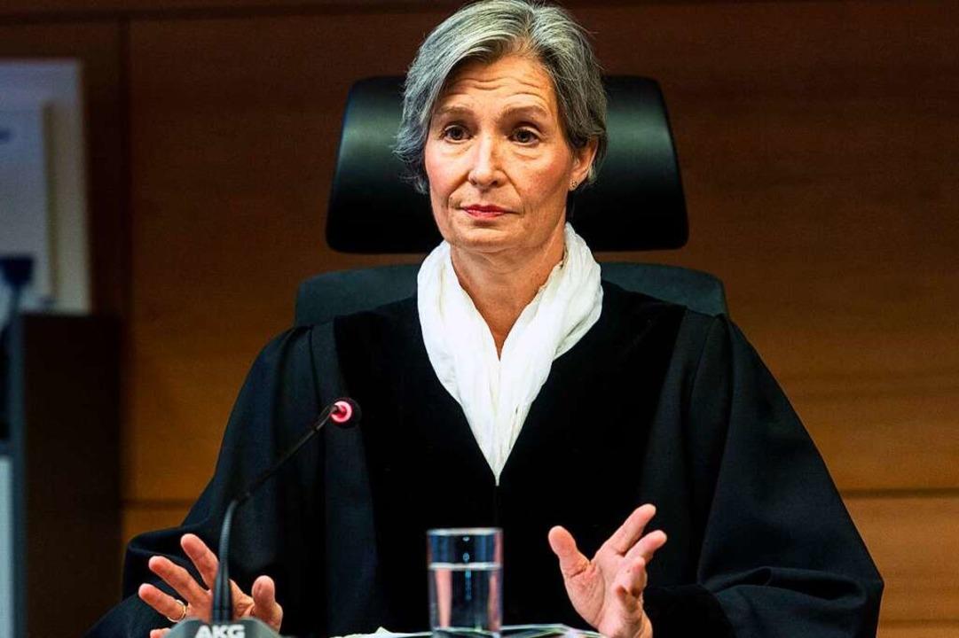 Richterin Eva Kleine-Cosack vor der Urteilsverkündung am Freitag.  | Foto: dpa