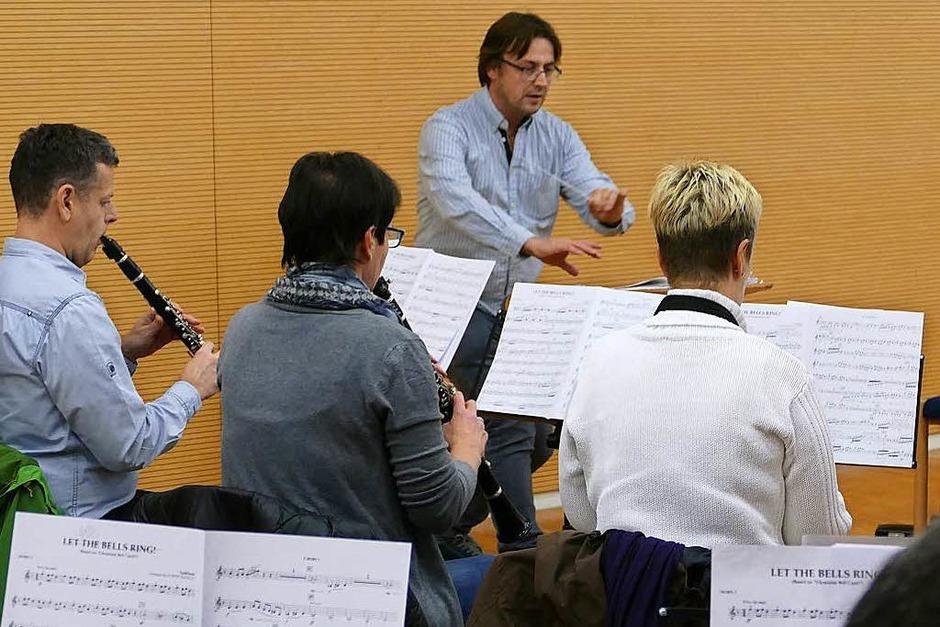 """Damit jede Note """"sitzt"""", heißt es für das Hauptorchester der Trachtenkapelle Stegen: üben, üben, üben<?ppp?> <?_ppp?> (Foto: Markus Donner)"""