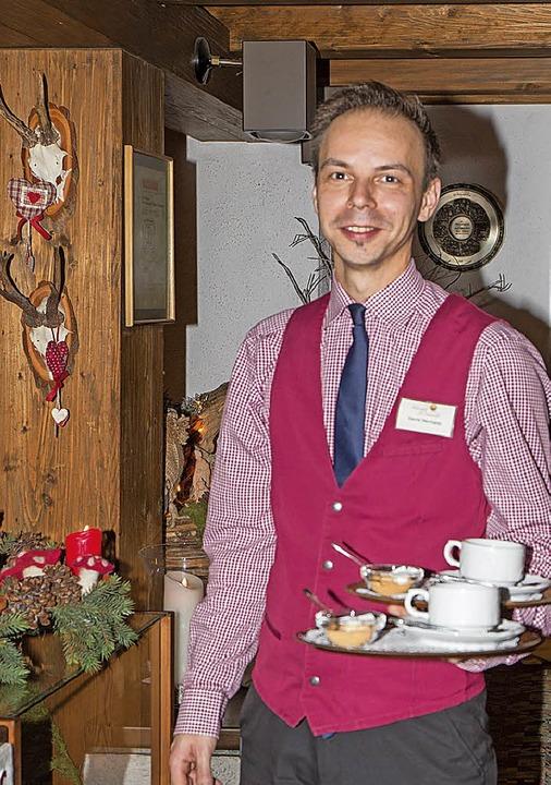 Trotz des entgangenen Familienfestes a...e Freude an der Arbeit nicht verloren.  | Foto: Wilfried Dieckmann