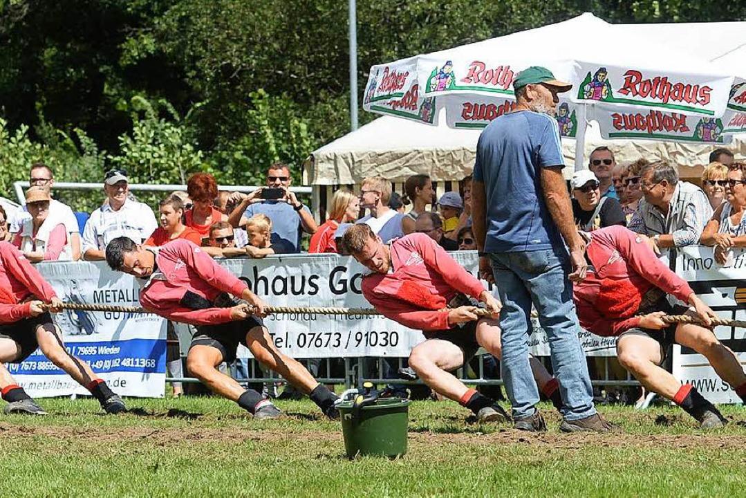 Starke Jungs: Die Tauzieher aus Böllen... Meisterschaft für sich entschieden.    | Foto: PATRICK SEEGER