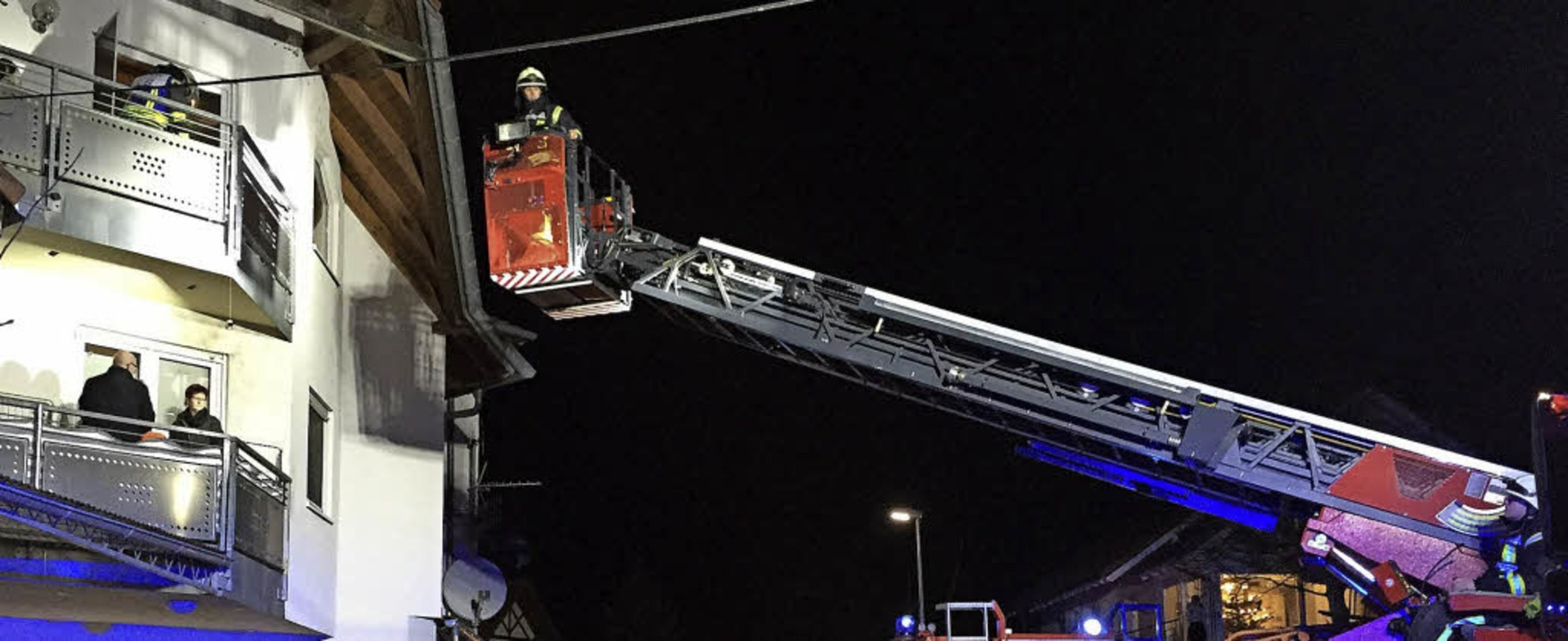 Den 139. Einsatz in diesem Jahr  verze...derner  an Heiligabend in Tannenkirch.  | Foto: Feuerwehr