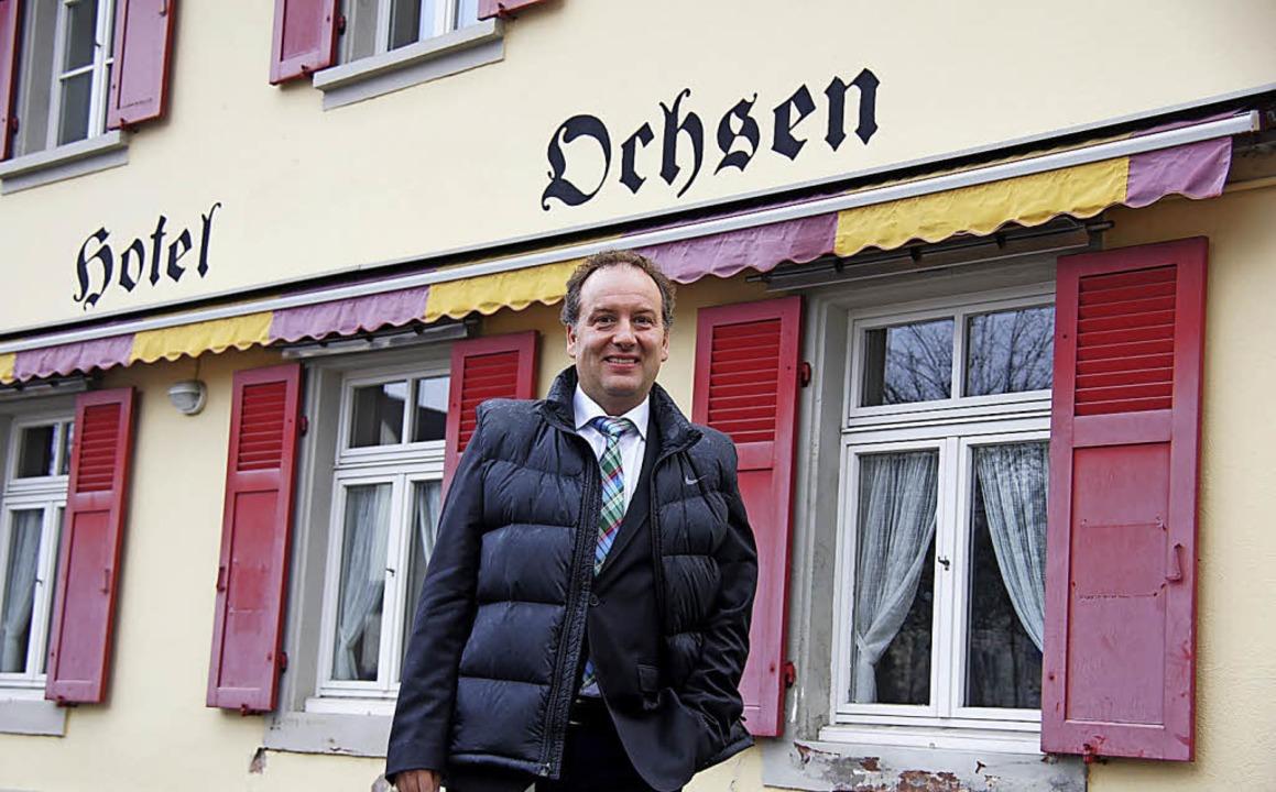 Neuer Besitzer: Christoph Roduner hat ...iegenschaft in Schweizer Rheinfelden.     Foto: Valentin Zumsteg