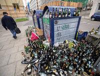 Zu viele Flaschen in Stuttgart