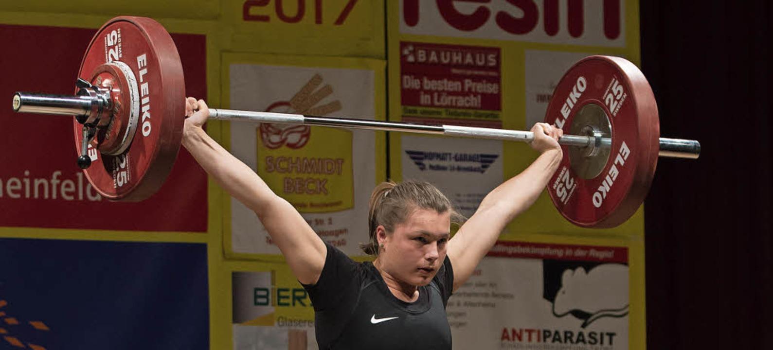 Bronze-Triple bei der U-23-Europameisterschaft: die Lörracherin Tabea Tabel  | Foto: Markus Schächtele