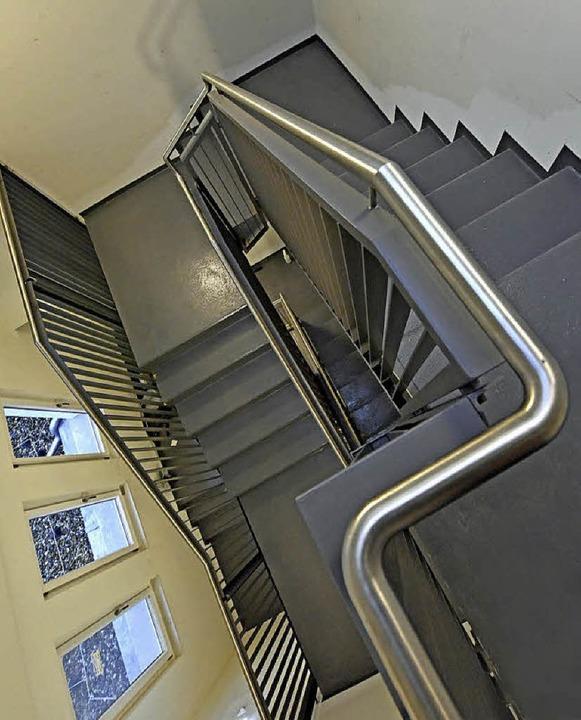 Auch das Treppenhaus ist neu gebaut.  | Foto: Michael Bamberger