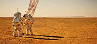 Analog-Astronauten in der Wüste