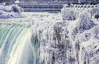 Die Niagarafälle frieren zu