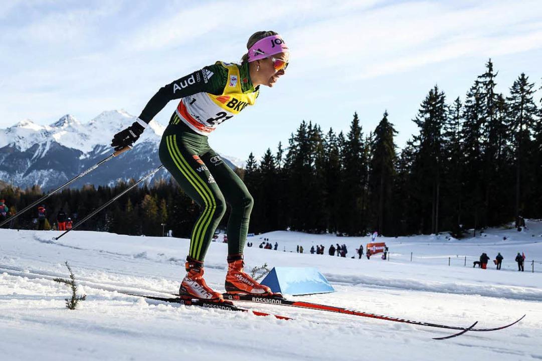 Stefanie Böhler aus dem Hotzenwald sch...it Platz 15 die Olympia-Qualifikation.  | Foto: AFP