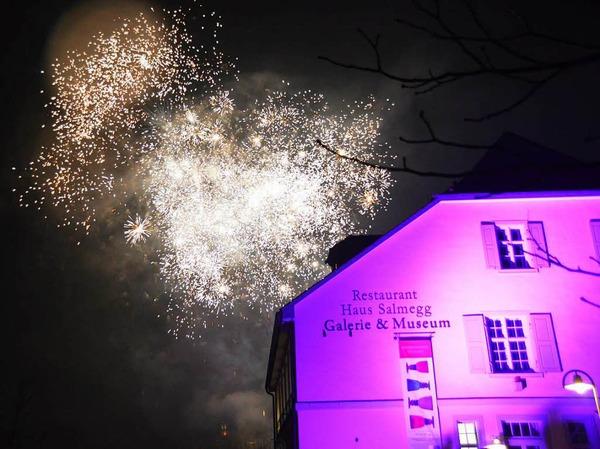 Eindrücke von der grenzüberschreitenden Silvesterfeier beider Rheinfelden