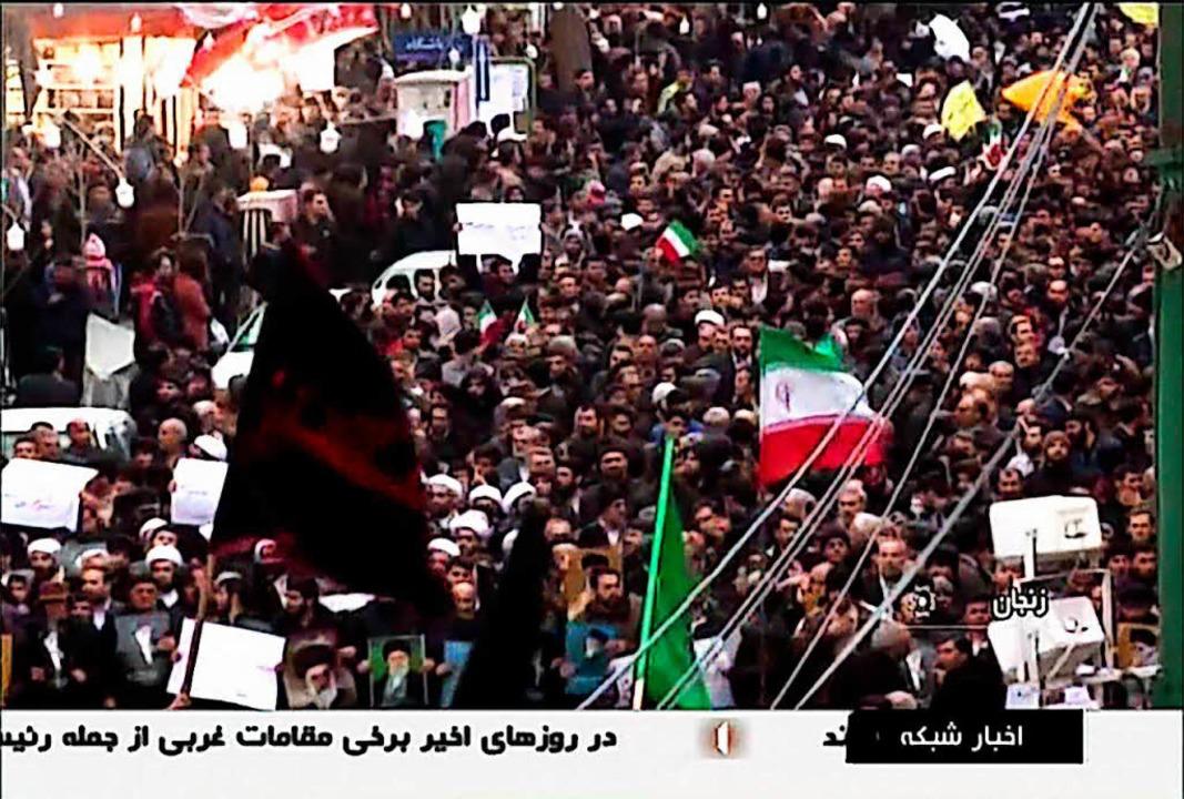 Im Iran dauern die Proteste gegen die Regierung an.  | Foto: AFP