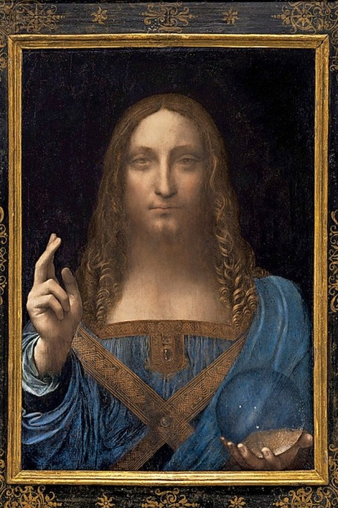 "Teuerstes Kunstwerk der Welt: Leonardo da Vincis ""Salvator Mundi""    Foto: dpa"