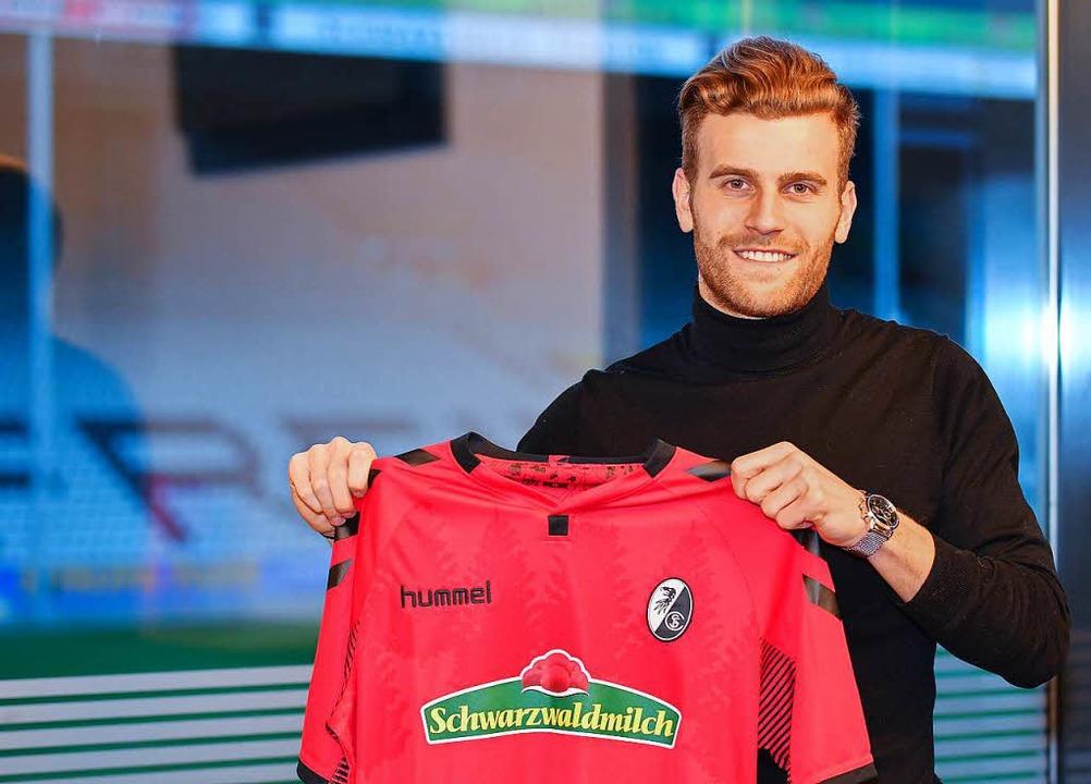 Lucas Höler fährt mit dem SC Freiburg ins Trainingslager nach Sotogrande.  | Foto: Achim Keller