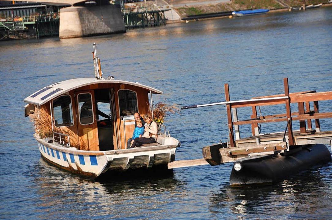 Eine Fahrt mit einer der vier Fähren ist mit der Baselcard kostenlos.  | Foto: Daniel Gramespacher