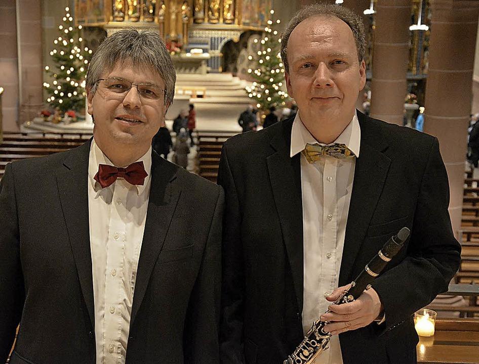 Die Akteure des Silvesterkonzertes im ...arinette,  und Clemens Staiger, Orgel.  | Foto: evers