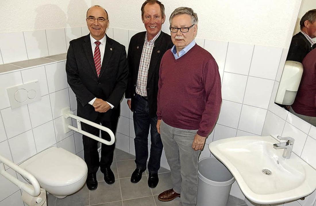 Hubert Mayer, Franz Lupfer,  Roland Ti...Menschen:  Zweckmäßig und groß genug.   | Foto: Kurt Meier