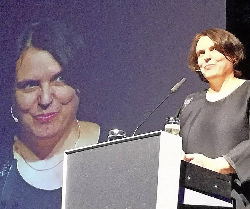 Elisabeth Ackermann im Volkshaus   | Foto: Baas