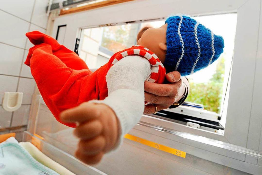 Eine Babyklappe sollte die letztmöglic...t Geschäftsführer Hans Peter Schlaudt