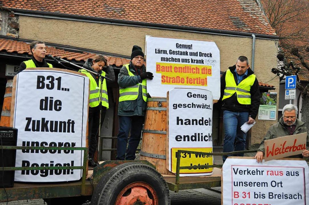 Demonstration für Weiterbau der B 31 West in Ihringen  | Foto: Kai Kricheldorff