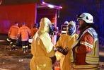 Fotos: Rettungsarbeiten beim Gefahrgutunfall in Weil am Rhein