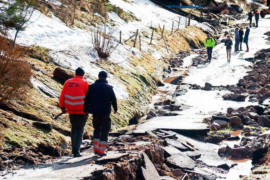 Menzenschwand nach dem Hochwasser (Foto: dpa)