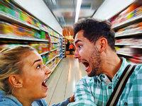 Sollte ein Mann seine Gattin öffentlich im Supermarkt tadeln?