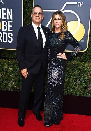 Tom Hanks (l) und Rita Wilson