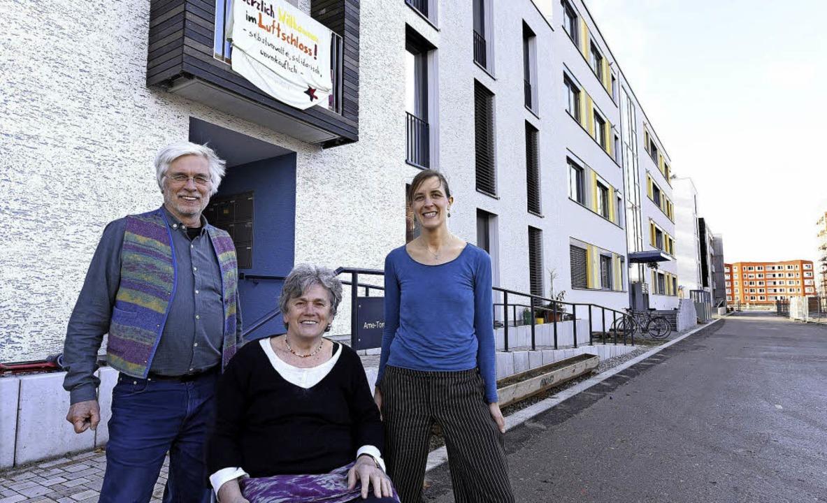 Zufriedene Syndikalisten: Horst Berg, ...nk und Petra Müller-Stolz (von links)   | Foto: Thomas Kunz