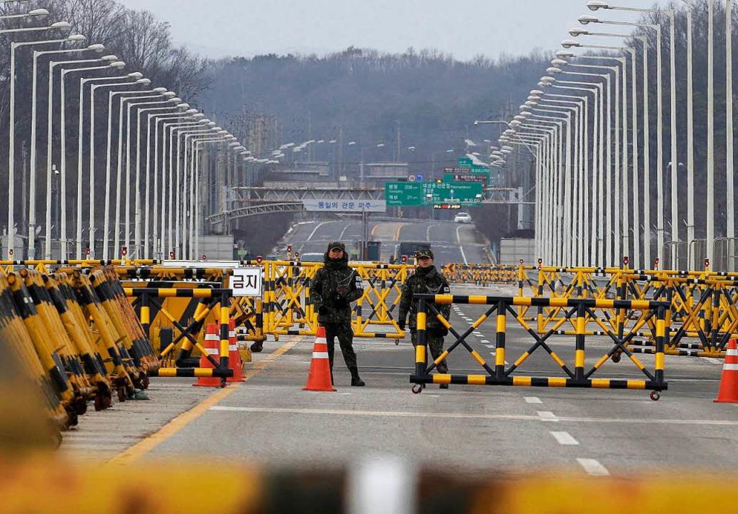 Die Vereinigungsbrücke im südkoreanischen Paju.  | Foto: dpa
