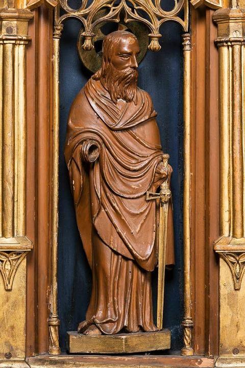 Der Heilige Paulus ist nicht mehr an seinem Platz.  | Foto: Münster