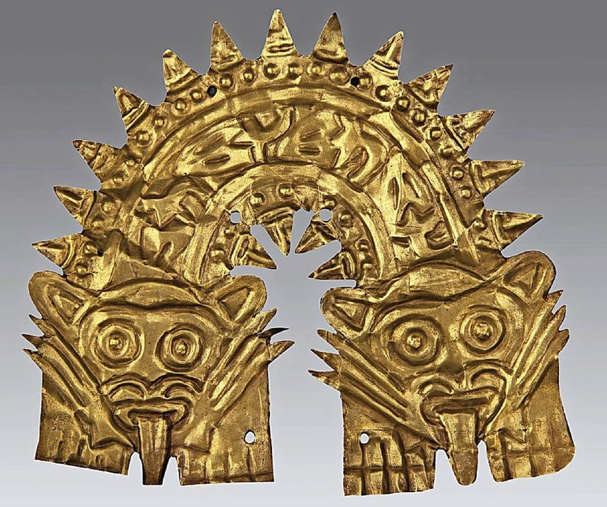 Goldschmuckplatte mit mythischem Wesen  | Foto: Museo de Arte de Lima, Nachlass Fam. Prado