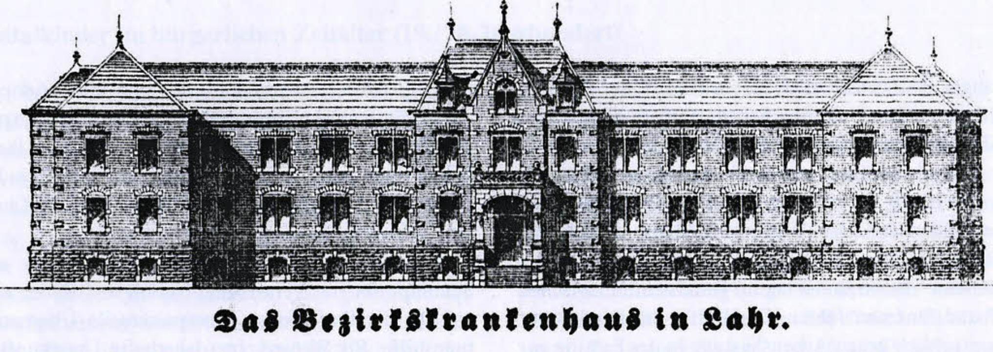 Der Plan für das Bezirkskrankenhaus aus dem Jahr 1898  | Foto: Norbert Klein