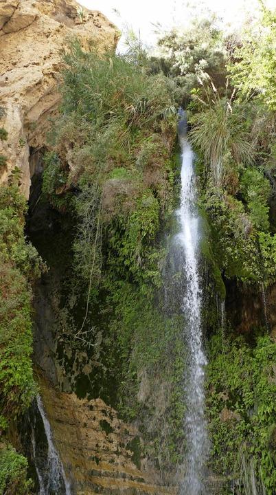 Mitten in der Wüste: David-Wasserfall bei Ein Gedi  | Foto: Manuela Müller