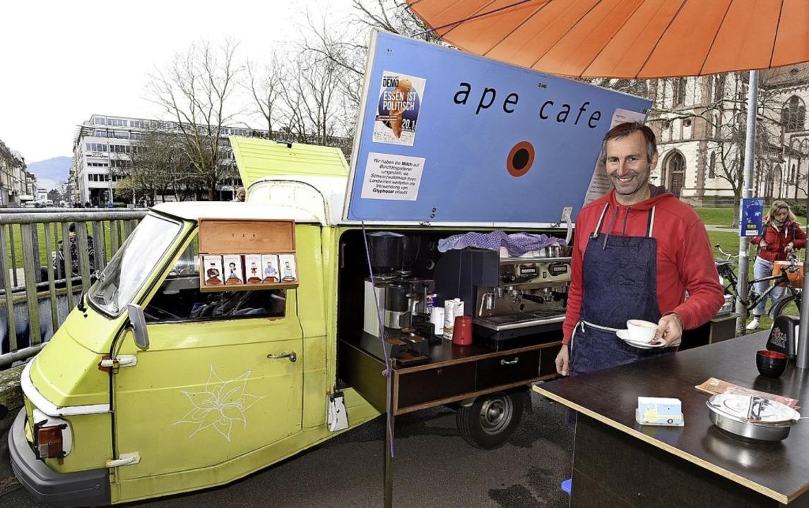<BZ-Rubrik>Das Ape cafe</BZ-Rubrik><Dr...wochs Wochenmarkt Vauban15 bis 18  Uhr  | Foto: Thomas Kunz
