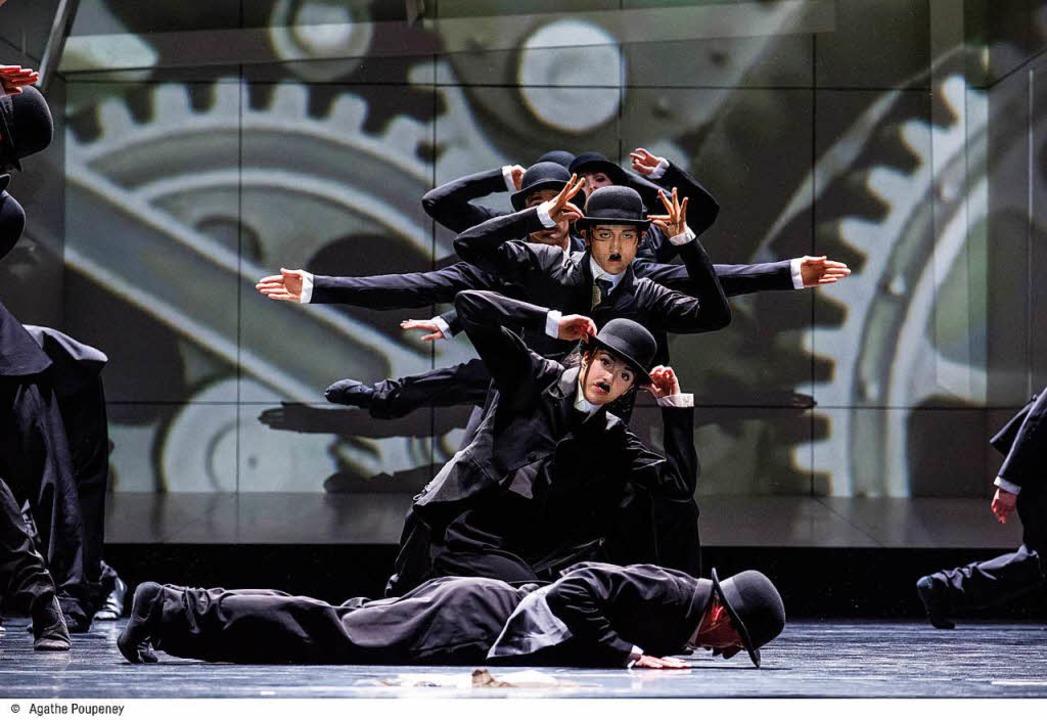 Moderne Zeiten: Charlie-Chaplin-Pantom... der Compagnie de Ballet der Rheinoper  | Foto: Agathe POUPENEY