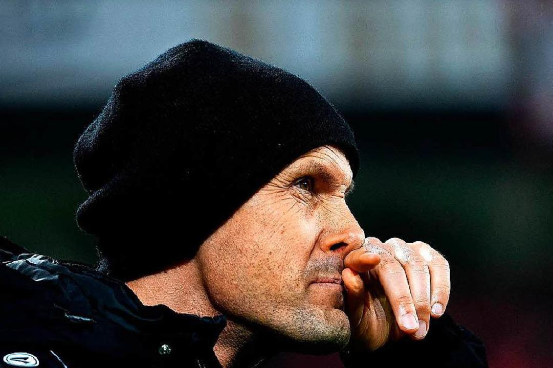 Hatte gegen die Bayern nicht den richt...her: Leverkusens Coach Heiko Herrlich.  | Foto: AFP