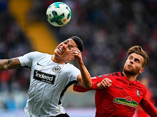 Gleich ein Startelfdebüt für den SC-Neuzugang Lucas Höler: Gegen Eintracht Frankfurt stand der ehemalige Sandhäuser in der Startelf von Christian Streich.