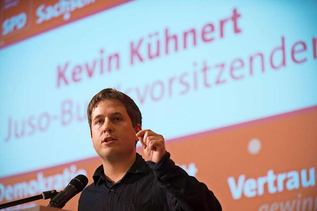Erklärter Gegner der großen Koalition:...Kühnert, Bundesvorsitzender der Jusos.  | Foto: dpa