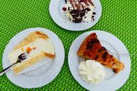 Im Café Elke in Obereichsel ist die Käsesahne riesig
