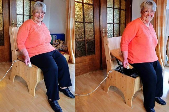 Schleudersitz in Zeitlupe hilft gehandicapten Menschen