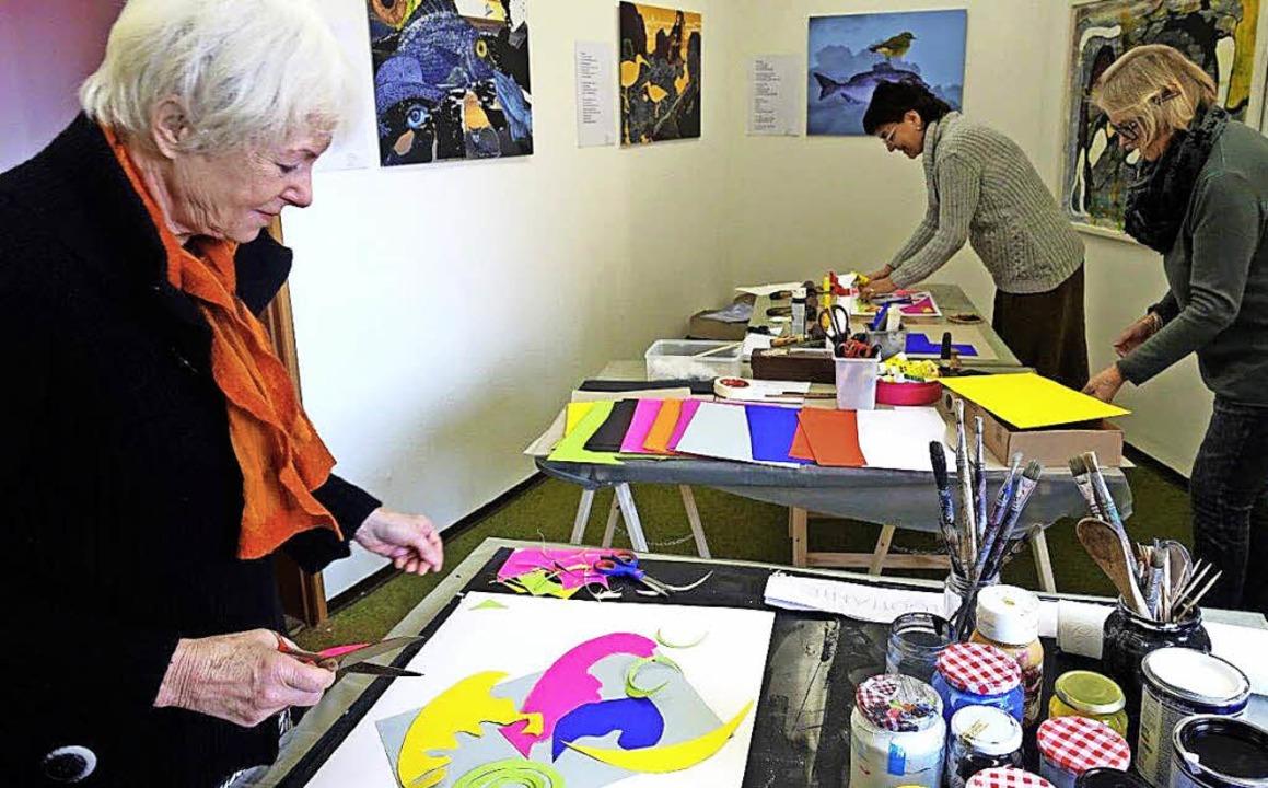 Kreativworkshop Malen mit der Schere   | Foto: Helga Bauer