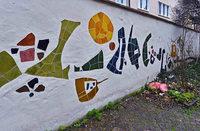Mosaik an der Alten Universität fristet ein tristes Dasein