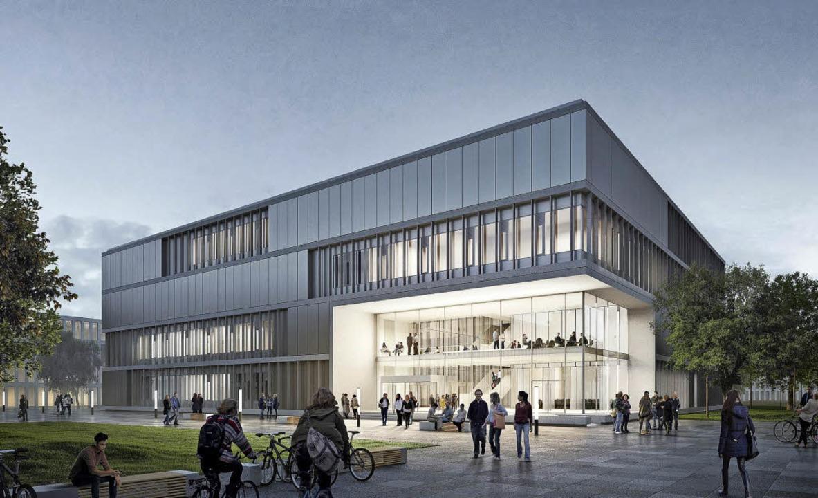Ende 2019 soll das neue Institutsgebäude für das IMBIT bezugsfertig sein.  | Foto: Heinle, wischer und Partner