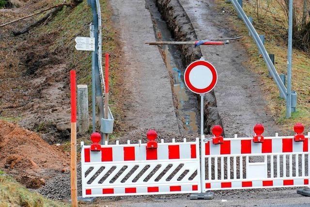 Wege in Feldberg wurden von Tief Burglind weggespült