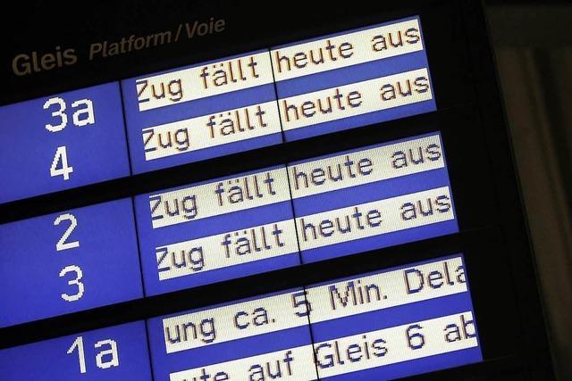 Keine Züge zwischen Offenburg und Konstanz