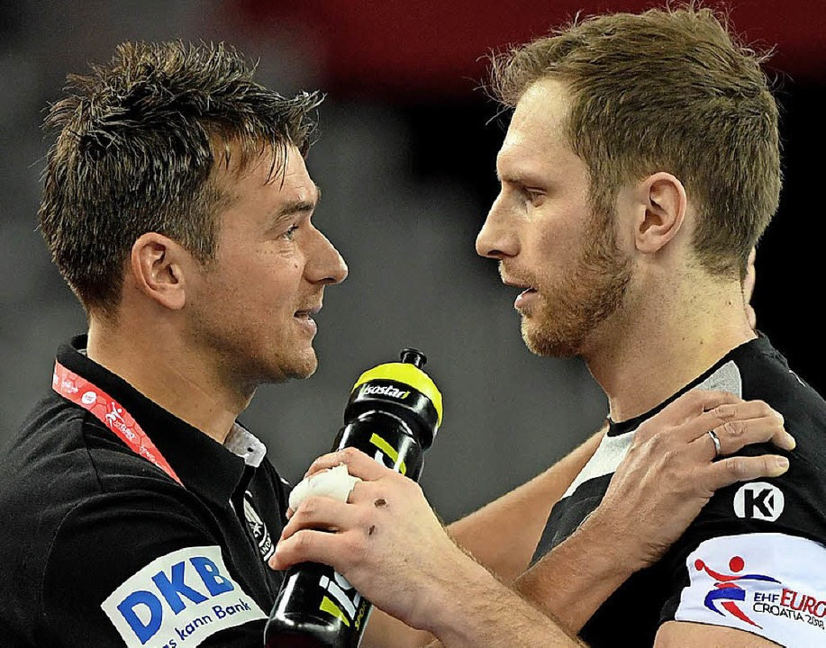 Trainer Christian Prokop (links)  mit  Steffen Weinhold   | Foto: dpa