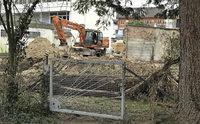 Neues Tor zur Baustelle